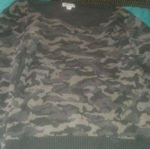 Long Sleeve Camo Sweater